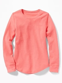 Soft-Washed Thermal Tee for Girls
