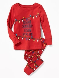 """""""Dear Santa: I Can Explain"""" Sleep Set for Toddler & Baby"""