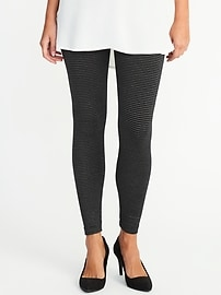 Sparkle-Stripe Leggings for Women
