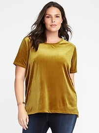 Plus-Size Velvet Boyfriend Top