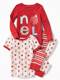 """Noel"" Graphic 4-Piece Sleep Set for Toddler & Baby"