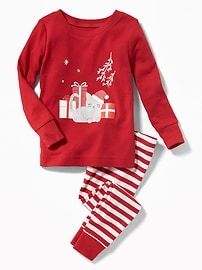Christmas Cat Sleep Set for Toddler & Baby