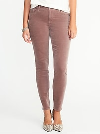 Mid-Rise Velvet Rockstar Pants for Women