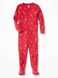 Star-Printed Footed Sleeper for Toddler & Baby