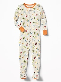 Skier-Print Footed Sleeper for Toddler & Baby