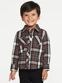 Chemise en flanelle à carreaux pour tout-petit garçon