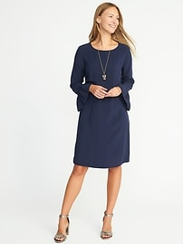 Ruffle-Sleeve Shift Dress for Women