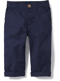 Rolled-Cuff Twill Pants for Baby