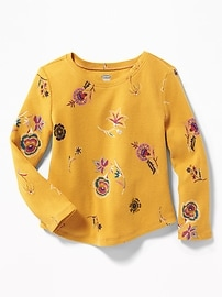 Printed Thermal Top for Toddler Girls