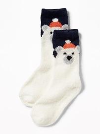 Chaussettes douillettes à motifs d'animaux pour tout-petit garçon