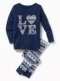 Pyjama 2pièces à motifs pour tout-petit et bébé