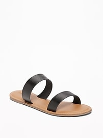 Sandales à double bride pour femme