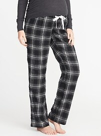 Maternity Plaid Flannel Sleep Pants