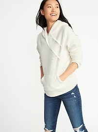 Sherpa Pullover Hoodie for Women