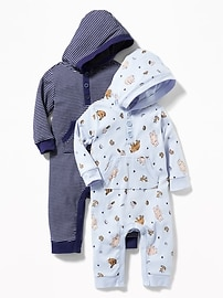 Hooded One-Piece 2-Pack for Baby