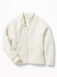 Cozy Sherpa Bomber Jacket for Girls