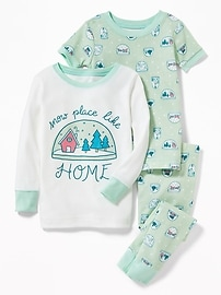 """""""Snow Place Like Home"""" 3-Piece Sleep Set for Toddler & Baby"""