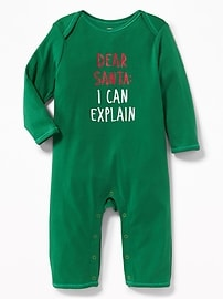 Holiday Graphic One-Piece for Baby