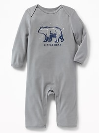 Graphic Jersey One-Piece for Baby