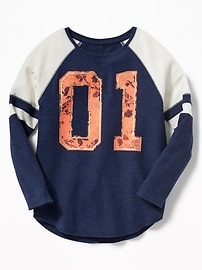 Soft-Washed Graphic Thermal Tee for Girls