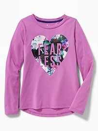 Relaxed Go-Dry Graphic Tee for Girls
