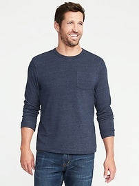 Terry-Velour Easy Crew Pocket Tee for Men