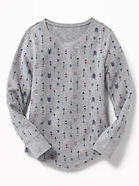 Thermal Scoop-Neck Tee for Girls