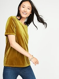 Boyfriend Velvet Top for Women