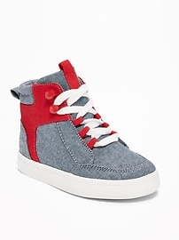 Chaussures montantes en cambrai pour tout-petit garçon