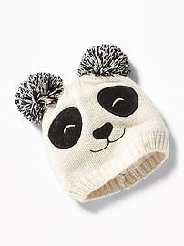 Bonnet en tricot à motif d'animal pour fille