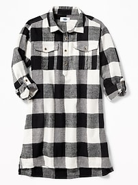 Plaid Shirt Dress for Girls
