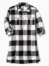 Robe style chemise à carreaux pour fille