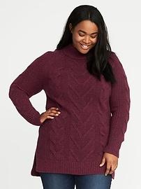 Chandail tunique en tricot torsadé, taille Plus