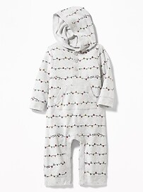 Hooded Jersey One-Piece for Baby