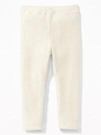 Legging en tricot côtelé de velours pour toute-petite fille