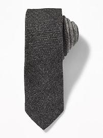 Cravate en tweed à chevrons pour homme