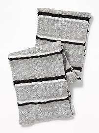 Écharpe en tricot à motif pour fille