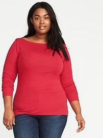 Classic Plus-Size Boat-Neck Tee