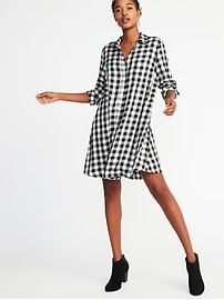 Twill Shirt Dress for Women