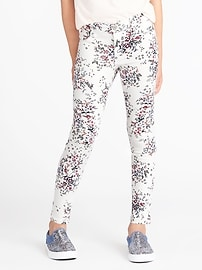 Floral-Print Ballerina Jeggings for Girls