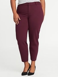 Smooth & Contour Plus-Size Ponte-Knit Pixie Trousers