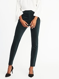 Mid-Rise Pixie Velvet Ankle Pants for Women