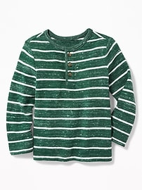 Striped Sweater-Knit Henley for Toddler Boys