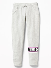 Relaxed Fleece Joggers for Girls