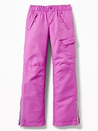 Water-Resistant Snow Pants for Girls