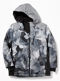 Go-Warm Reflective-Trim Snowboard Jacket for Boys