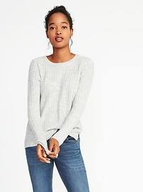 Plush Rib-Knit Top for Women
