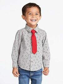 Ensemble avec chemise à imprimé de pingouin et cravate pour tout-petit garçon