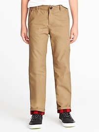 Straight Flannel-Lined Khakis for Boys