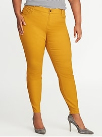 Smooth & Slim High-Rise Plus-Size Sateen Rockstar Jeans